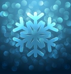 Glass snowflake vector image vector image