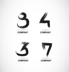 Grunge letter logo vector