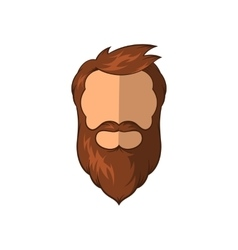 Hipster man icon cartoon style vector image vector image