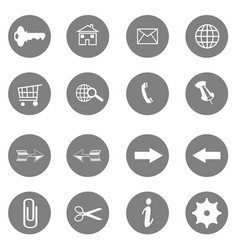 internet icons set - website buttons - mess vector image
