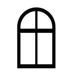 isolated window cartoon vector image