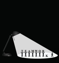 lamp teamwork vector image vector image