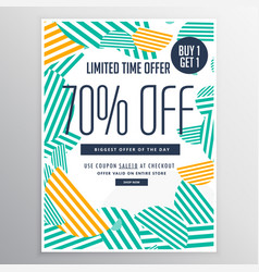 Modern trendy sale promotional discount brochure vector
