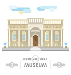 museum building flat design vector image vector image