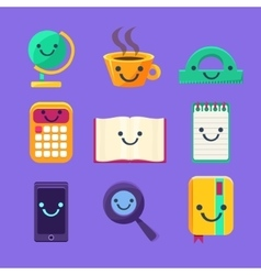 Office Desk Supplies Set Of Characters vector image