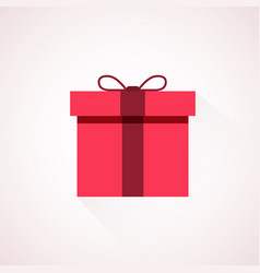 Red flat present box concept vector