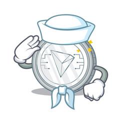 Sailor tron coin character cartoon vector