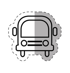 school bus thin line vector image