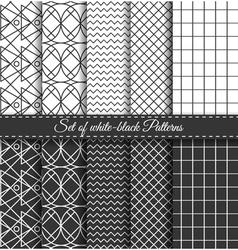 Set of black white Pattern5 vector image