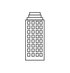 Silhouette of building skyscraper with several vector