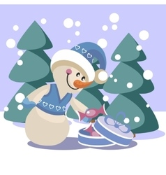 Snowman color 19 vector