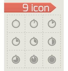 stopwatch icon set vector image vector image