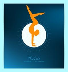 Woman doing yoga asanas vector