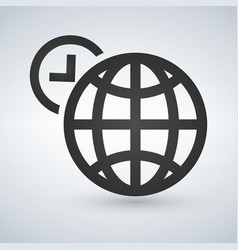 world time icon isolated on vector image