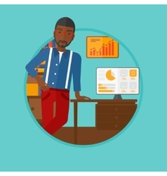 Man giving business presentation vector