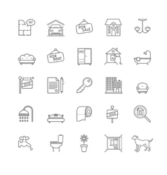House and real estate icons set vector