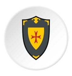 Ancient shield icon flat style vector