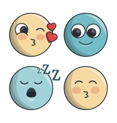 Set emoticons differents feelings and expression vector