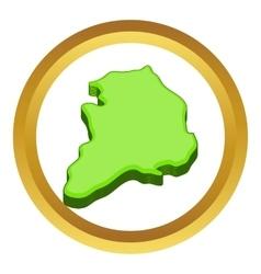 South korea map icon vector