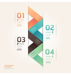 Abstract arrow infographics origami vector
