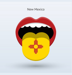 Electoral vote of new mexico abstract mouth vector