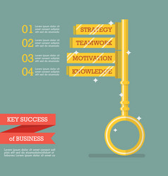 key success of business infographic vector image