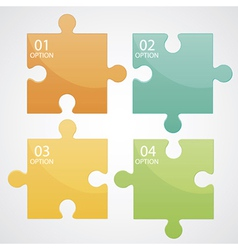 Infographic puzzle vector