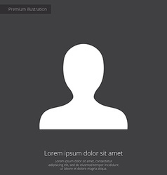 Profile premium icon white on dark background vector