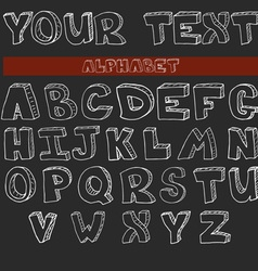 English alphabet hand drawn set vector image