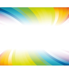 Horizontal rainbow banner vector