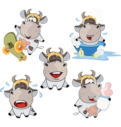 Happy cow clip-art cartoon vector