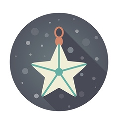 Christmas star flat icon vector