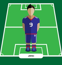 Computer game japan football club player vector