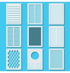 Vertical ventilation shutters vector