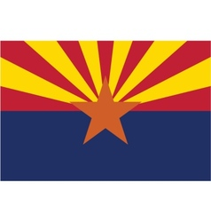 Arizona flag vector image vector image