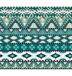 Aztec seamless pattern on cold color vector