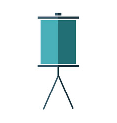 Blank presentation board stand empty icon vector