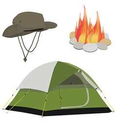 Camping gear vector