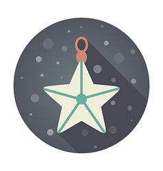 Christmas star flat icon vector