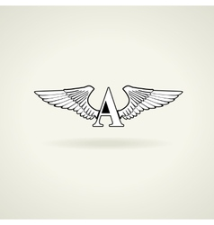Classic emblem or blank for logo vector image vector image