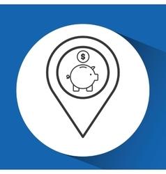 Concept e-commerce piggy money graphic vector