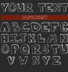 English alphabet hand drawn set vector image vector image