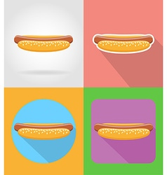 fast food flat icons 14 vector image vector image