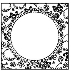 figure flowers background with white emblem icon vector image vector image