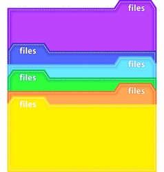 Files vector image