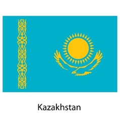 Flag of the country kazakhstan vector image