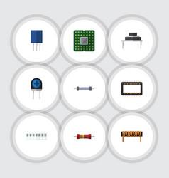 Flat technology set of mainframe resistor vector