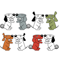 four pair of amusing dogs vector image vector image