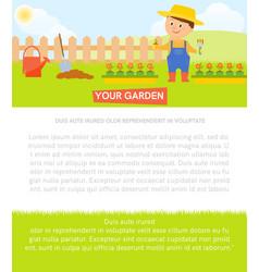 gardener with flower vector image