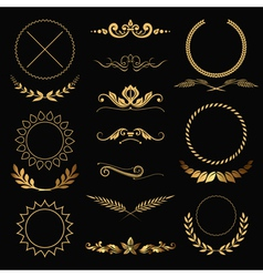 Gold decorations vector